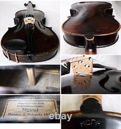 Old German 19th C Hopf Violin Video Antique Master Rare 062
