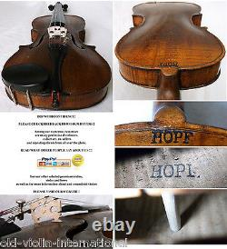 Old German 19th C Hopf Violin Video Antique Master Rare 802