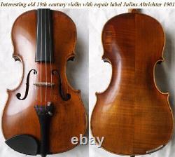 Old German 19th Century Violin Vidéo Antique Violino 232