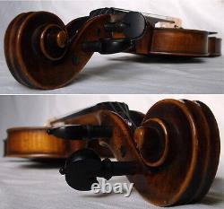 Old German Violin C. F. Glass MID 1800s Video Antique Master 923