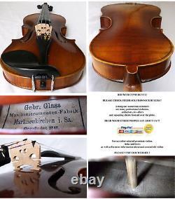 Old German Violin Glass Bros. Vidéo Rare Antique Violino 118