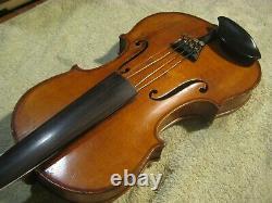 Old Vintage Antique 1 Pc Érable Quilté Dos Violon Plein Taille