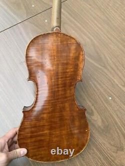 Old Vintage Violon 4/4 Antique Un Pc Dos Pèlerins En Métal