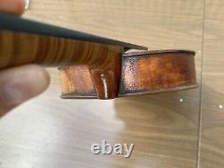 Old Vintage Violon Allemand 4/4 Antique Belle Flamme Un Pc Dos