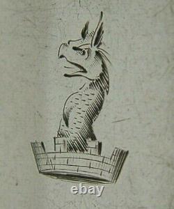 Rare Exeter Sterling Silver Thomlinson Famille Créée Fork 1856 76g Antique