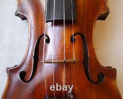 Rare Fine Old 19th C Violin Vidéo Antique Master Violino 784