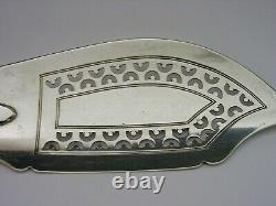 Rare Newcastle Solid Sterling Silver Fish Slice 1838 Antique Géorgienne 130g