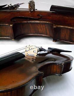 Rare Old Baroque 1800 C. F Hopf Violon Video Antique Violino 584