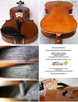 Rare Old French 19th C Master Violin F. Contal Video Antique 154