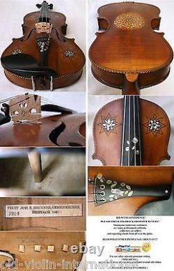 Rare Vieux Maître Violon Allemand J Brunner 1916 Vidéo Antique 832