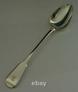 Superb Sterling Silver Fiddle Pattern Fasting Spoon 1823 Anticique Georgien 118g