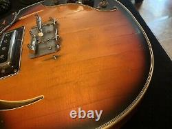 Teisco Kawai Kimberly Old Hollow Body Violon Basse Projet Faire Une Offre