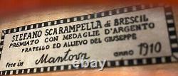 Très Vieux Violon Vintage Étiqueté Stefano Scarampella Geige 736