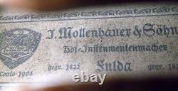 Vieil Allemand Maître Violon Mollenhauer & Fils Vidéo Antique 225
