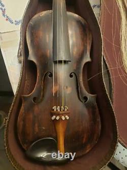 Vieille Antiquité Josef Klotz Violon Allemand À Mittenwalde Anno 1795 Violin