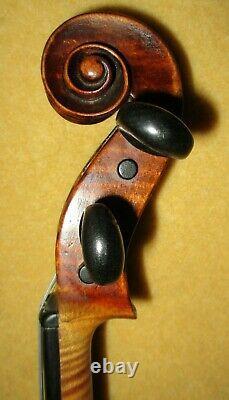 Vieux Antique 1780 Vieux Col Grafted Label Italien 4/4 Violon-réduit4fastsale