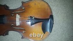 Vieux Vieux Violon Taille 7/8 Frederick Geisler 1909