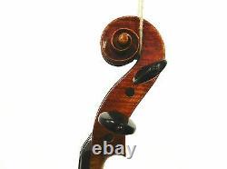 Vieux Violon Allemand 4/4 De Taille, Étiqueté - John Juzek Violon, Prêt À Jouer