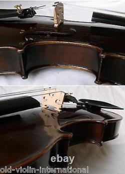 Vieux Violon Allemand D'alban Otto Schmidt -video Antique Violino 778