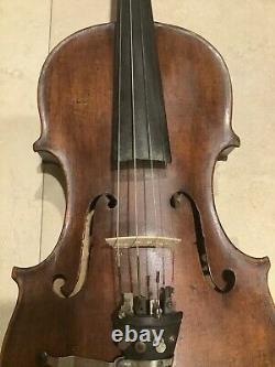 Vieux Violon Hopf Grandeur Nature 4/4, Boîtier & Accessoires Antique Vintage