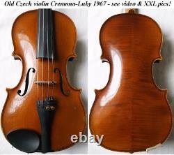Vieux Violon Tchèque Cremona Luby 1967 Video Antique Violino 176