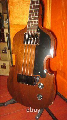 Vintage 1969 Gibson Eb-1 Violin Bass Electric Bass Avec Original Case & Endpin