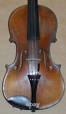 Vintage Antique 4/4 Old Violon Label Inside