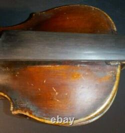Vintage Antique Old Violin Taille Normale