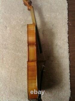Vintage Antonius Stradivarius Cremonensis Faciebat Anno 17 Violon Avec Étui Max