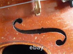 Vintage Antonius Stradivarius Czecho-slovakia Violin W Glasser Bow And Case