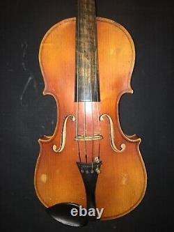 Vintage / Près D'antique Avant La Guerre Stradivarius Copie Riche Ton Violon