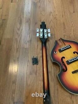 Vintage Teisco Violon Basse Guitare Batle Basse Projet Comme Est Fait Au Japon