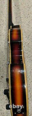 Vintage Univox Violin Bass 1960's Sunburst Killer Light Bass