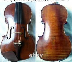 Violin D Nicolas D'aine -vidéo- Antique 344