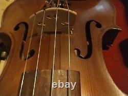Violine Antique Vintage Avec Boîtier En Bois Bow Estate Find