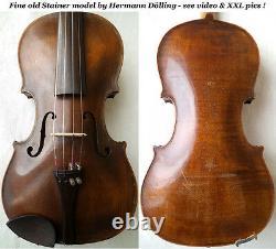 Violine De L'allemagne Violine H Douillez Jr Voir Video Antique 341