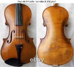 Violine Grande-allemande Voir Violino Video Antique Rare 270