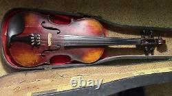 Violon 4/4 Vieux Fiddle Utilisé Vintage Antique