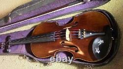 Violon 4/4 Vieux Violon Vintage Ancien Cas Utilisé Et Arc