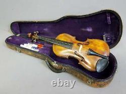 Violon Antique Avec Étui Et Accessoires Inclus, 24 Pouces, Domaine, Magnifique