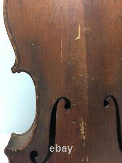 Violon De Conservatoire Vintage Antique Pour La Restauration De Pièces Ou De Réparation