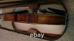 Violon Vintage 4/4 Fiddle Old Antique Utilisé Grandeur Nature
