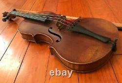 Violon Vintage Avec Bow & Extras. Une Vieille Fiddle. Copie En Strad Made In Germany