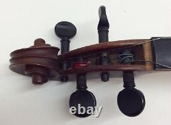 Vtg Antique 23.75 Violon Marqué Allemagne Avec Boîtier Et 29 61 Gram Bow Pour La Réparation