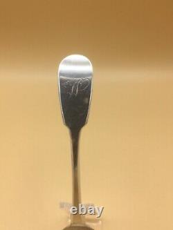 William IV Période Provincial Argent Caddy Spoon Thomas Wheatley Newcastle 1833